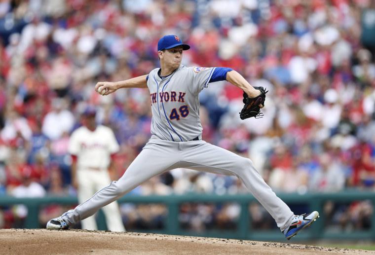 Image: New York Mets starting pitcher Jacob deGrom