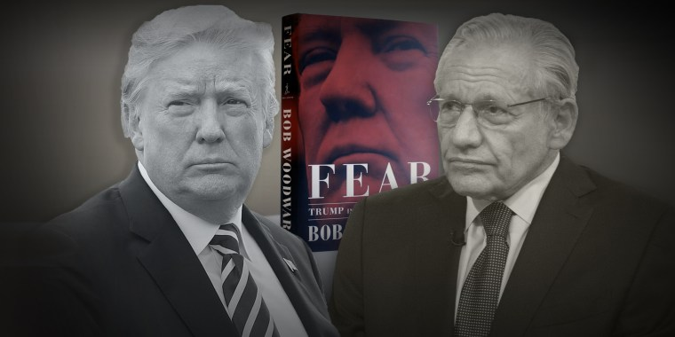 "Donald Trump, Bob Woodward and Woodward's book ""Fear."""