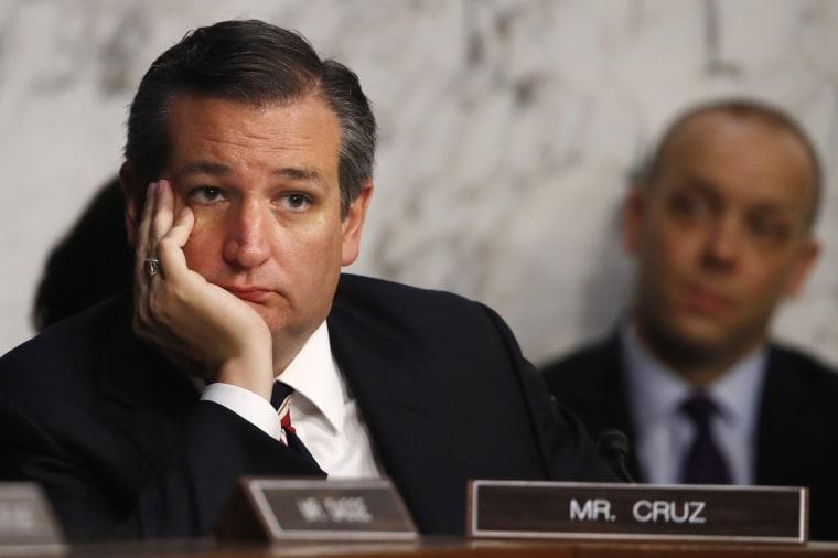 Image: Sen. Ted Cruz attends the Kavanaugh hearings