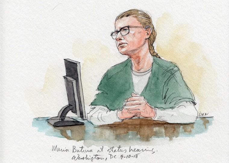 Image: Maria Butina court sketch