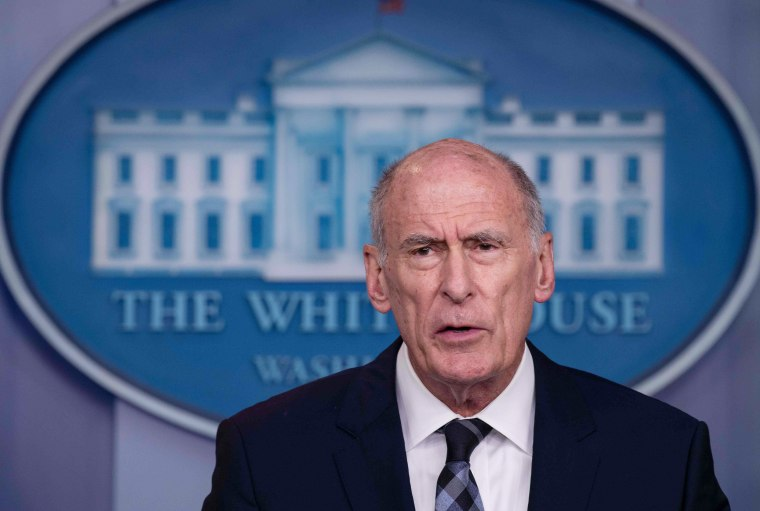 Image: U.S. Director of National Intelligence Dan Coats speaks during a press briefing at the White Hous