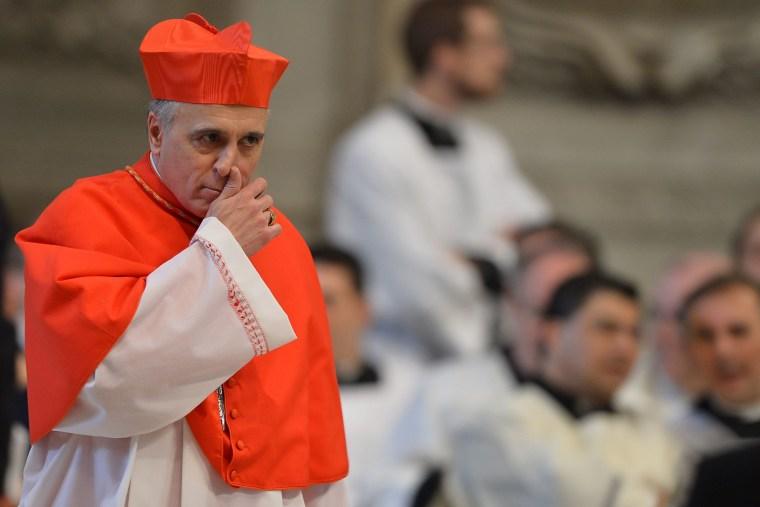 Image: U.S. cardinal Daniel DiNardo attends a mass at the St Peter's basilica