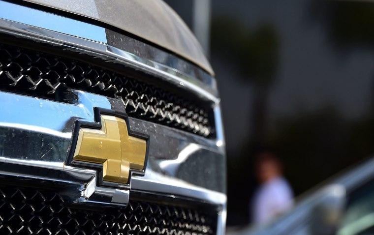 Image: A GM Chevrolet Silverado pickup truck
