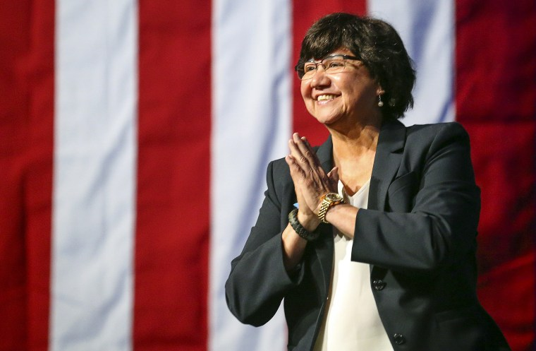 Image: Gubernatorial candidate Lupe Valdez on June 22, 2018, in Fort Worth, Texas.