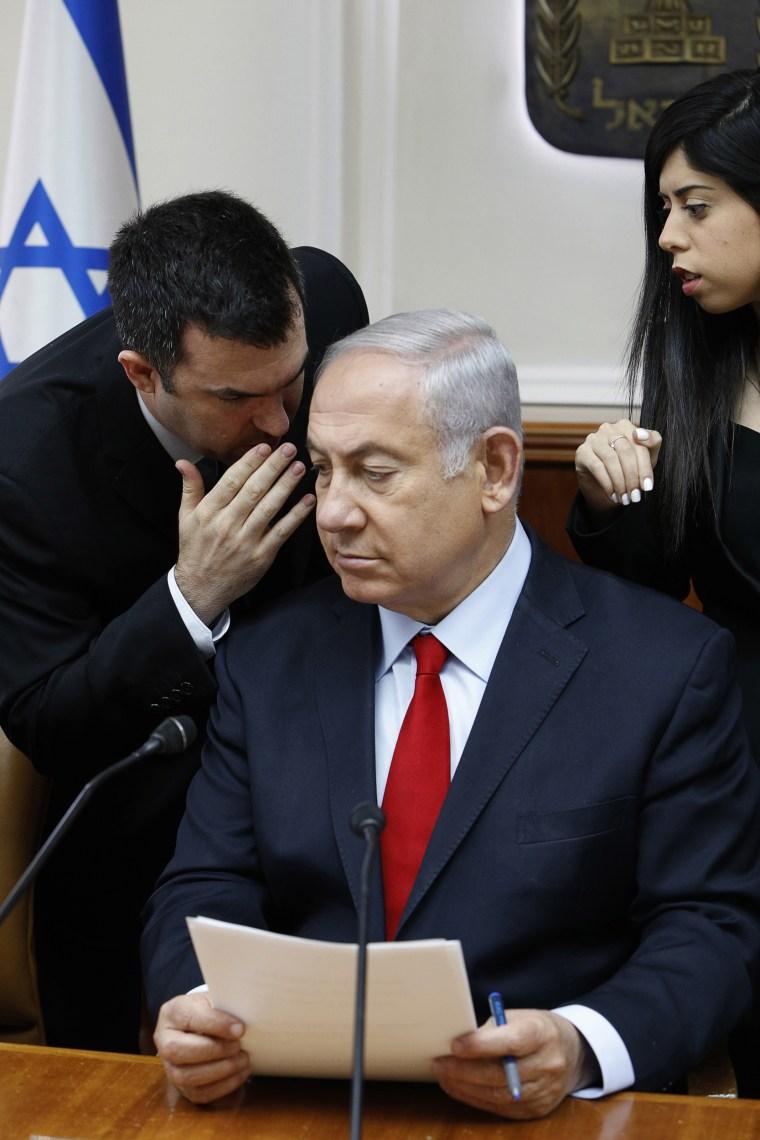 Image: Benjamin Netanyahu and David Keyes