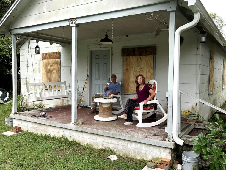 Image: Mickey Gentry and his wife, Agnes, plan to ride out Hurricane Florence at his home in Wilmington, North Carolina.