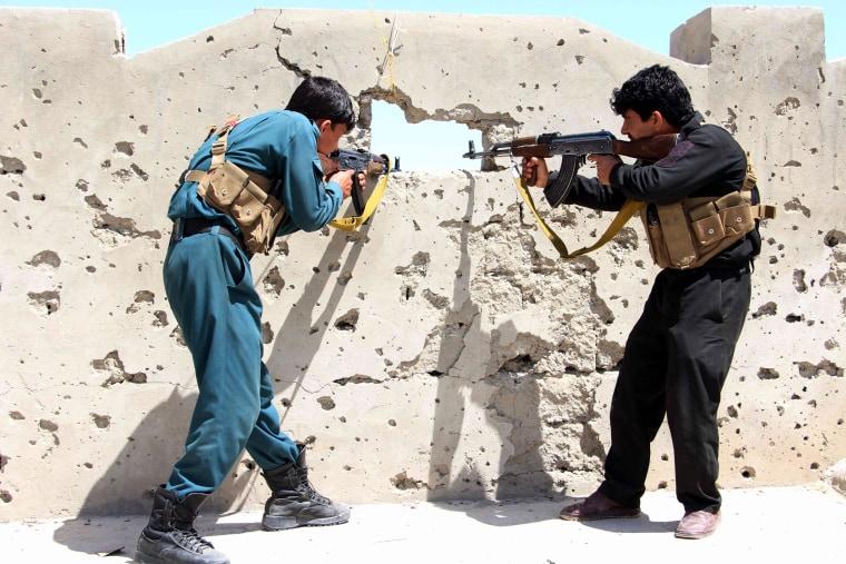 Image: Afghan forces operation against Taliban militants