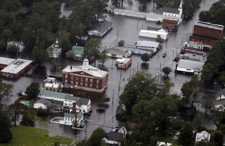 Image: Floodwaters from Hurricane Florence inundate the town of Trenton