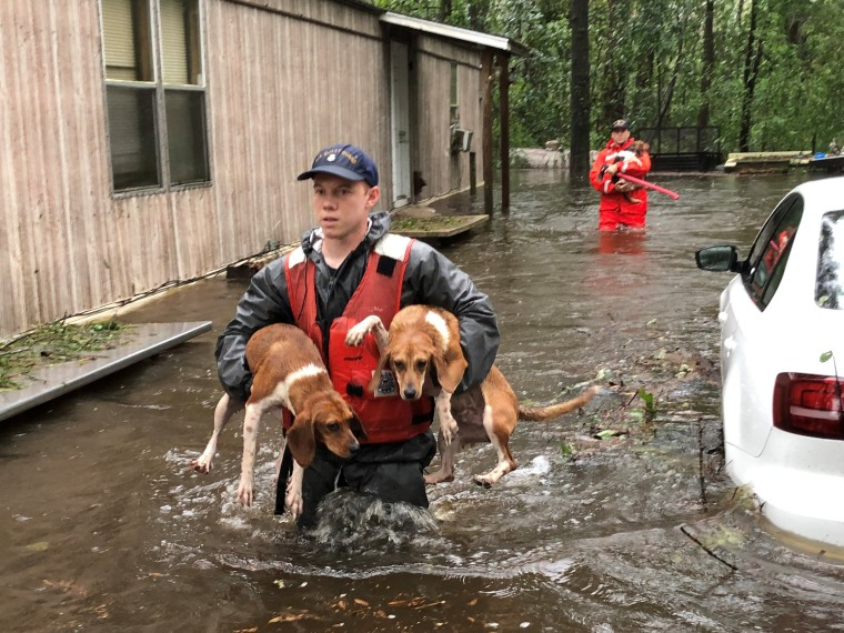 Image: Coast Guard rescues people and pets near Riegelwood