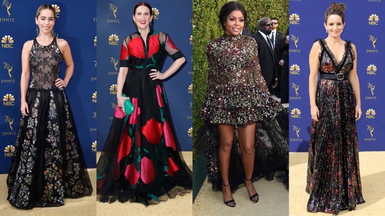 Dark floral trend: Emmy Awards 2018