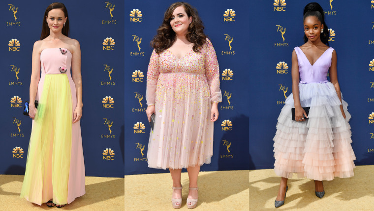 From left: Alexis Bledel, Aidy Bryant, Marsai Martin