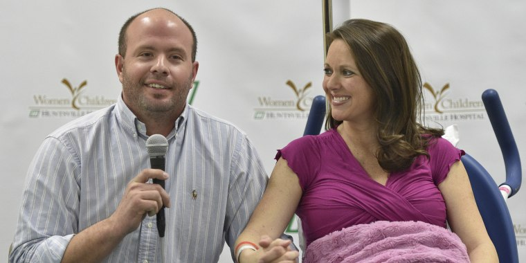 Eric and Courtney Waldrop were parents of three boys, trying for one more, when they got sextuplets.