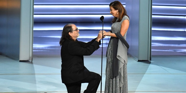 Couple who got engaged at the Emmys