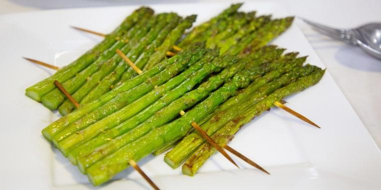 Adam Richman's Chicken Marsala + Grilled Asparagus Rafts