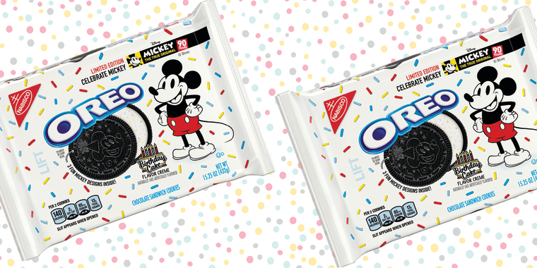 Birthday Cake flavored OREO to celebrate the anniversary of a true original - Mickey Mouse
