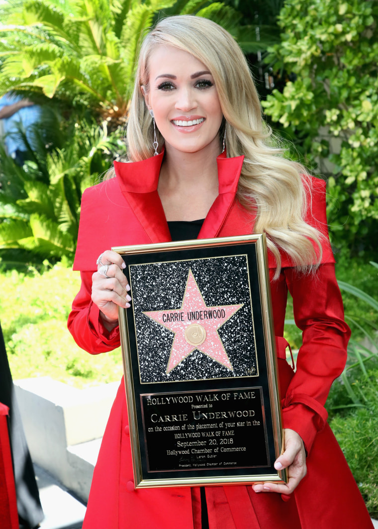 Image: Carrie Underwood Honored With Star On The Hollywood Walk Of Fame
