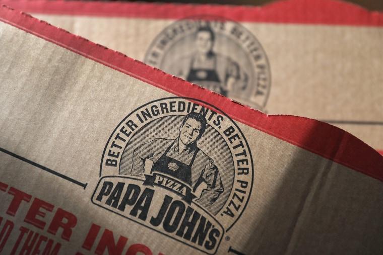 Image: A Papa John's pizza box
