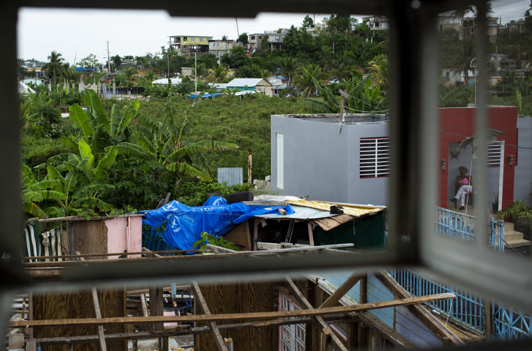 Image: View from the air-conditioning hole in at the room of Ramon Paez-Marte and Sol D. Reyes Perez's home at Valle Hill