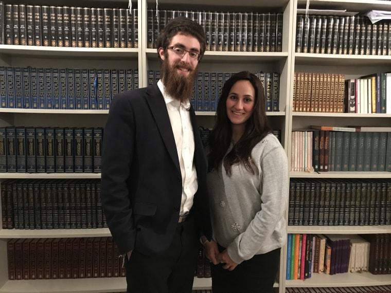 Image: Rabbi Avi Feldman and his wife Mushky
