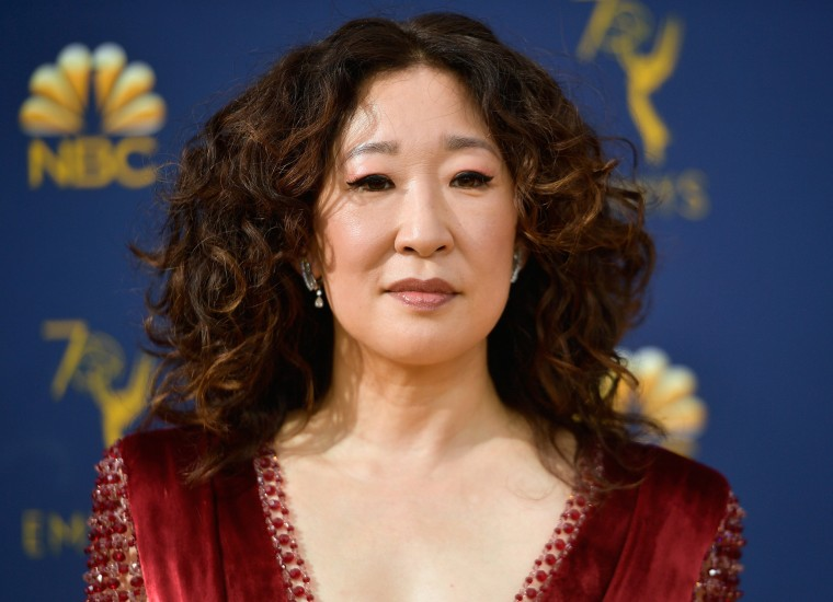 Image: Sandra Oh attends the 70th Emmy Awards at Microsoft Theater