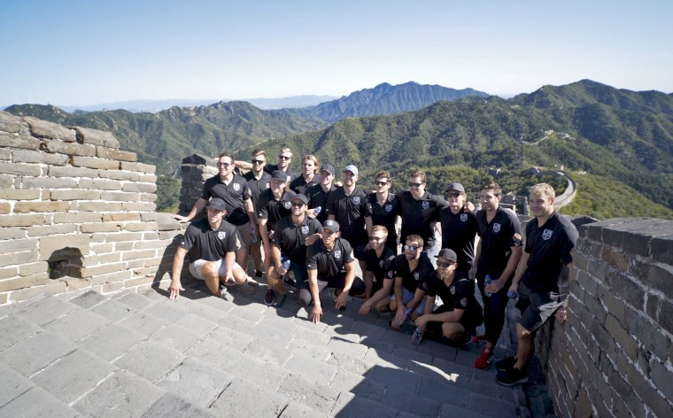 The L.A. Kings in China in 2017.