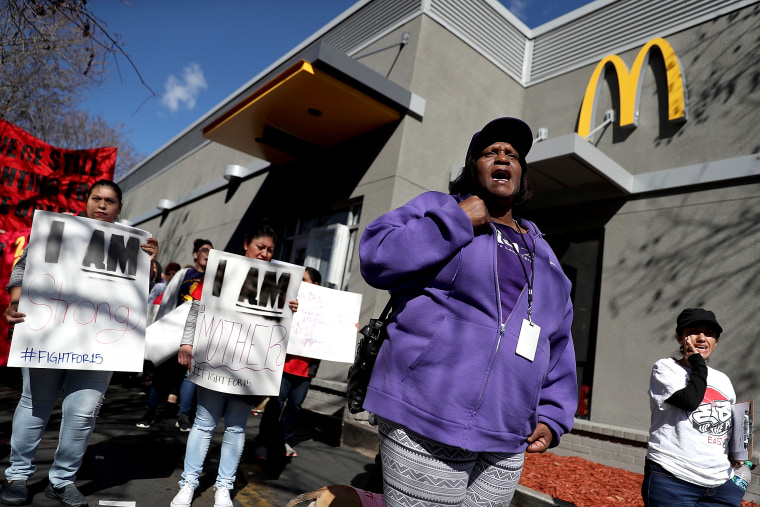 Fast Food Restaurant Workers On Strike