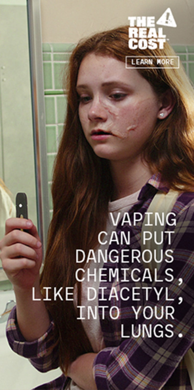 the FDA is launching an advertising campaign aimed at teens and designed to scare them off vaping