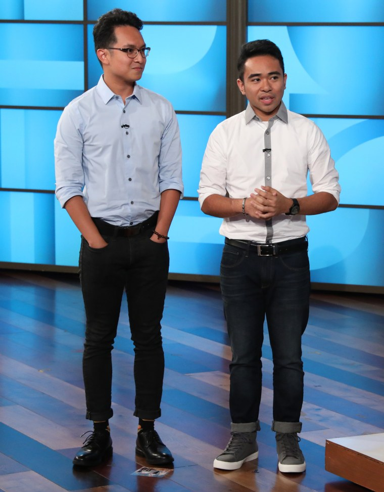 "Jevh Maravilla and Christian Toledo from Pearland, Texas stop by ""The Ellen DeGeneres Show"" on Sept. 17, 2018."
