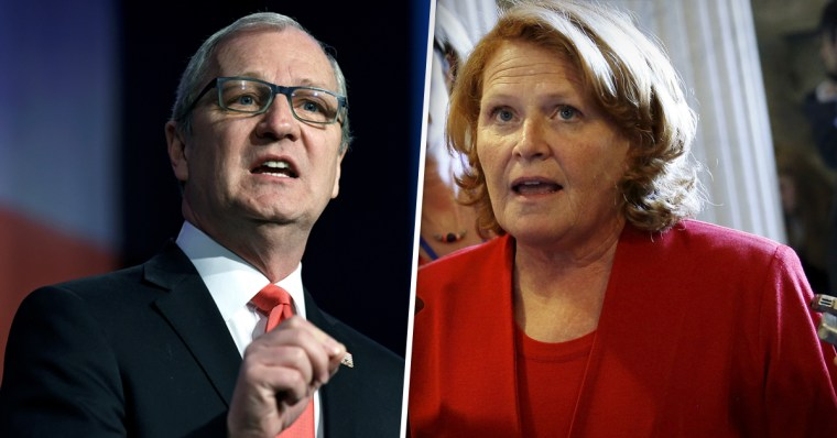 North Dakota rivals Rep. Kevin Cramer and Sen. Heidi Heitkamp.