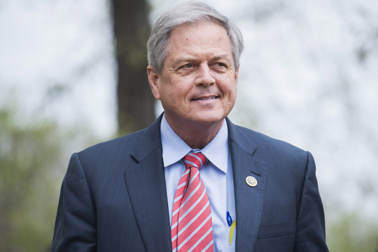 Rep. Ralph Norman, R-S.C., leaves a meeting of the GOP Conference at the Capitol Hill Club