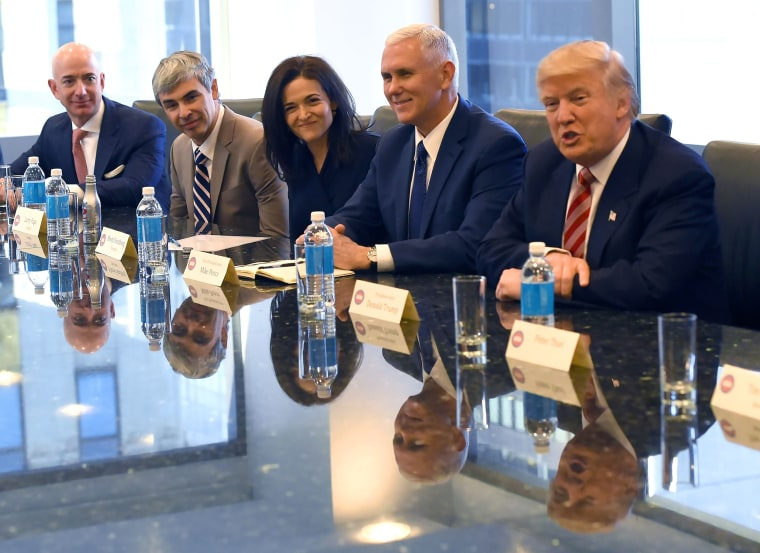 Image: Donald Trump, tech executives