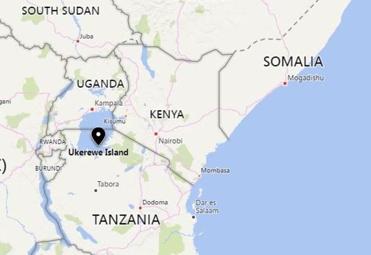 Image: Map showing Lake Victoria