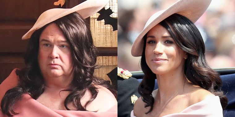 Modern Family's Eric Stonestreet dressed up as the former Meghan Markle