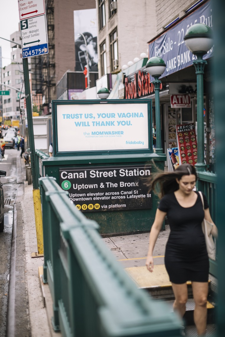 More than 20 billboards advertising the Fridababy MomWasher were recently put up throughout New York City.