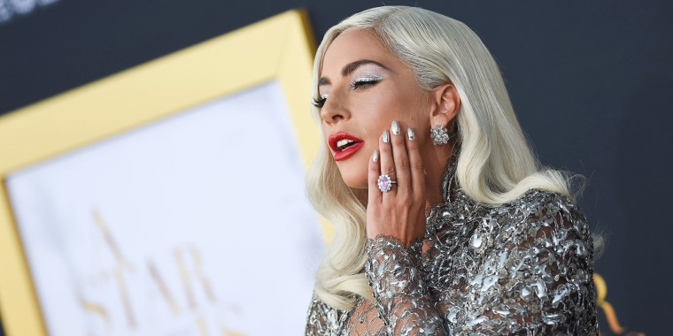 Lady Gaga Dazzles In Silver Metallics At The Los Angeles Premiere Of A Star Is Born Valerie Macon Afp Getty Images