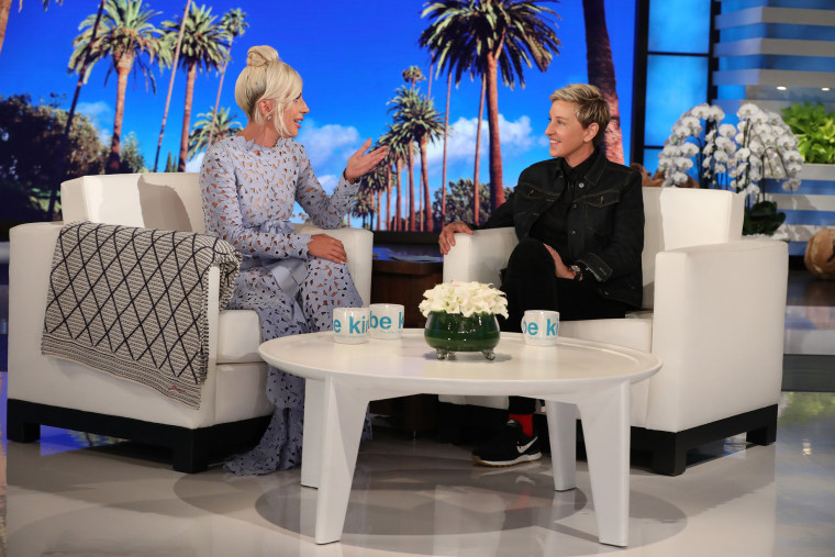 """Leading lady of """"A Star Is Born"""" Lady Gaga sits down for an exclusive TV interview on """"The Ellen DeGeneres Show"""" on September 27, 2018."""