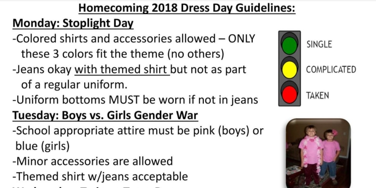 Dad criticizes school for asking middle schoolers to dress based on relationship status