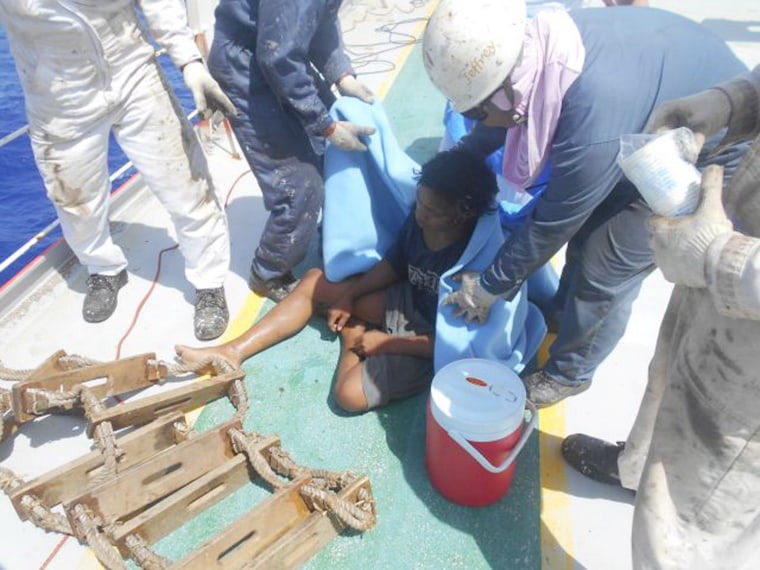 Image: Indonesian teenager on floating fish trap survives 49 days adrift at sea