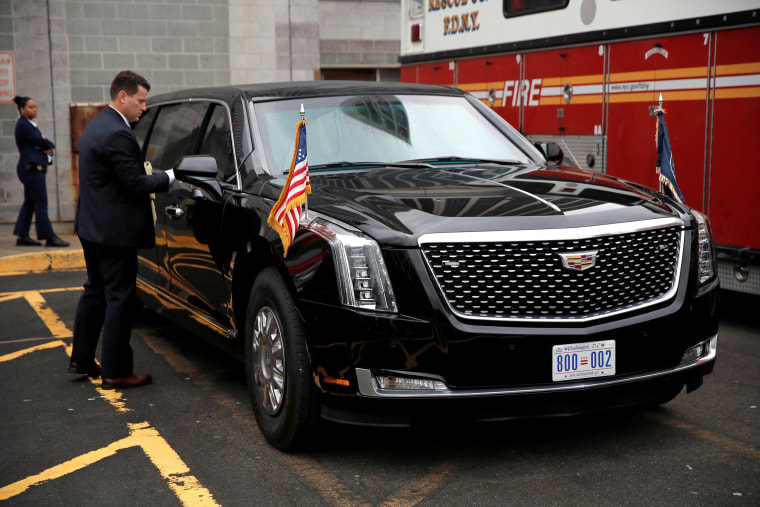 Presidential Cadillac The Beast >> Trump's new limo cost $1.5M and comes with a fridge full of his blood type