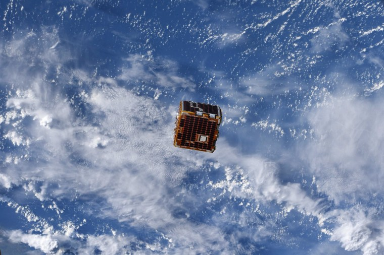 Image: The REMDEB satellite deployed in June from the International Space Station