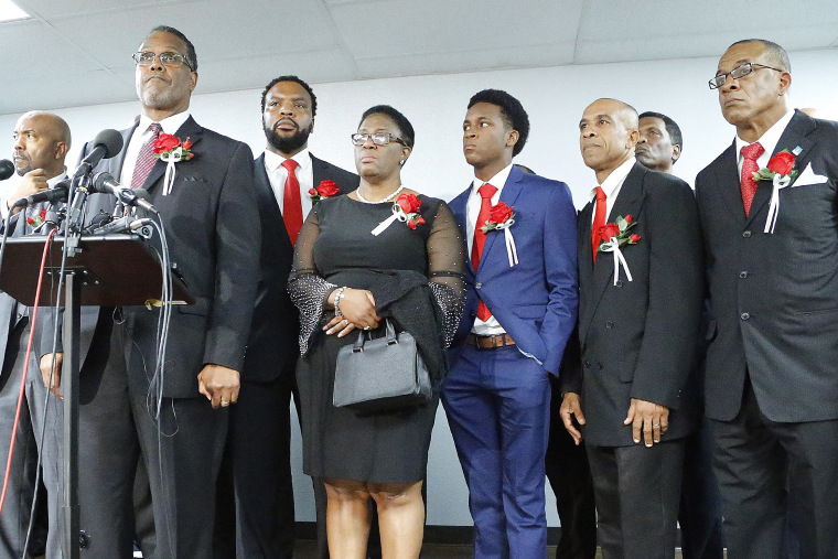 Image: Funeral Held For Botham Shem Jean, Who Was Killed By Dallas Police Officer Amber Guyger When She Entered Wrong Apartment