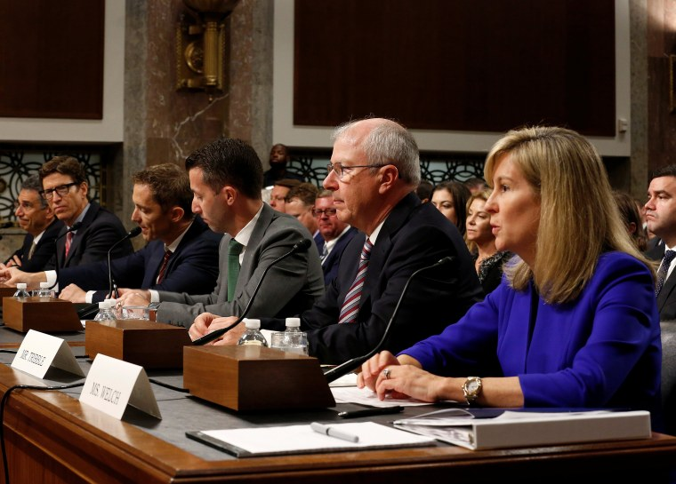 Image: Executives from AT&T, Amazon, Google, Apple and Twitter testify about safeguards for consumer data privacy in Washington