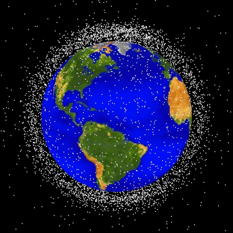 Low Earth orbit (LEO), the region of space within 2,000 km of the Earth's surface, is the most concentrated area for orbital debris.