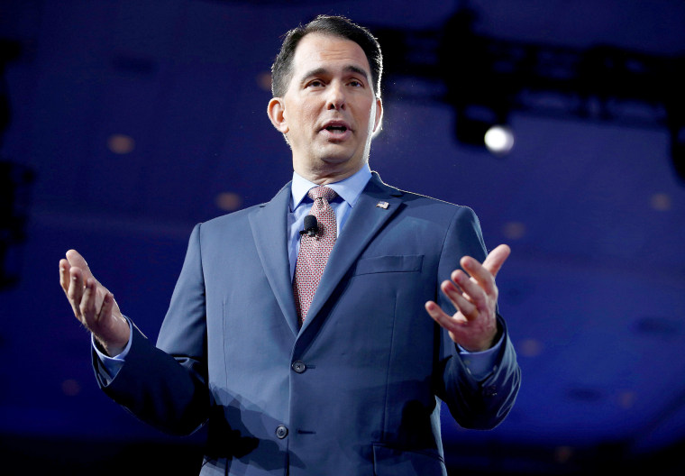 Image: Wisconsin Governor Scott Walker speaks during the Conservative Political Action Conference (CPAC) in National Harbor, Maryland