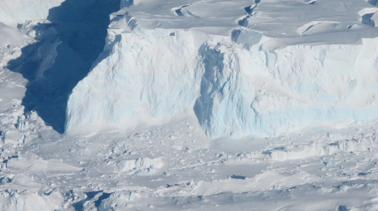 Thwaites Glacier acts like a giant cork that holds back the West Antarctic Ice Sheet.