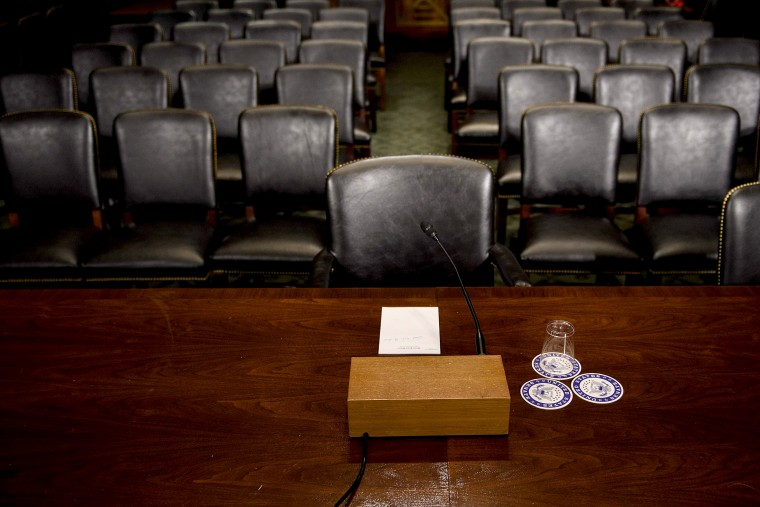 Image: The Senate Judiciary Committee's room is seen on Capitol Hill September 26, 2018 in Washington, DC