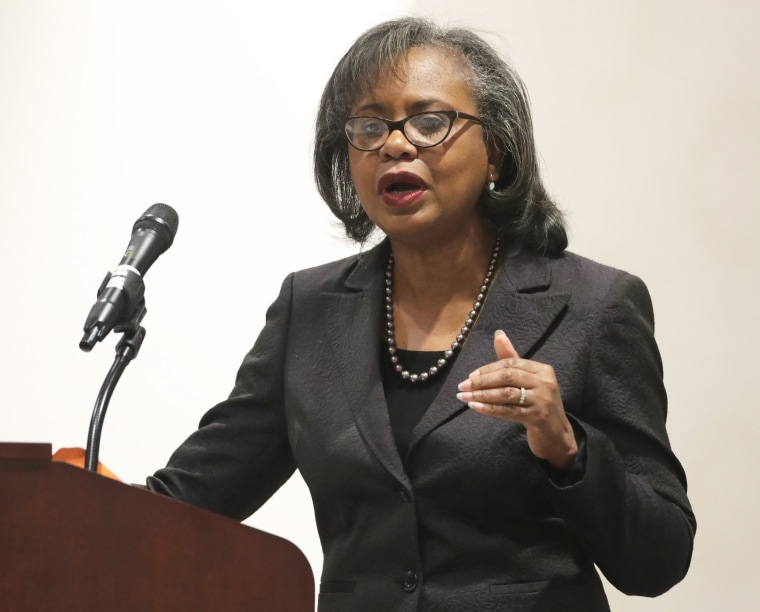 "Image: Law Professor Anita Hill Gives Lecture At Brandeis University Titled ""From Social Movement, To Social Impact"""