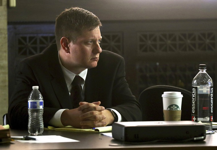 Image: Chicago police Officer Jason Van Dyke listens to the proceedings at his trial for the 2014 shooting death of Laquan McDonald