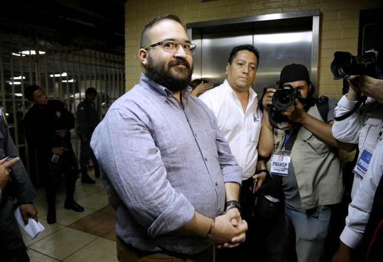 Duarte de Ochoa, former governor of Mexican state Veracruz, during extradition proceedings in Guatemala City