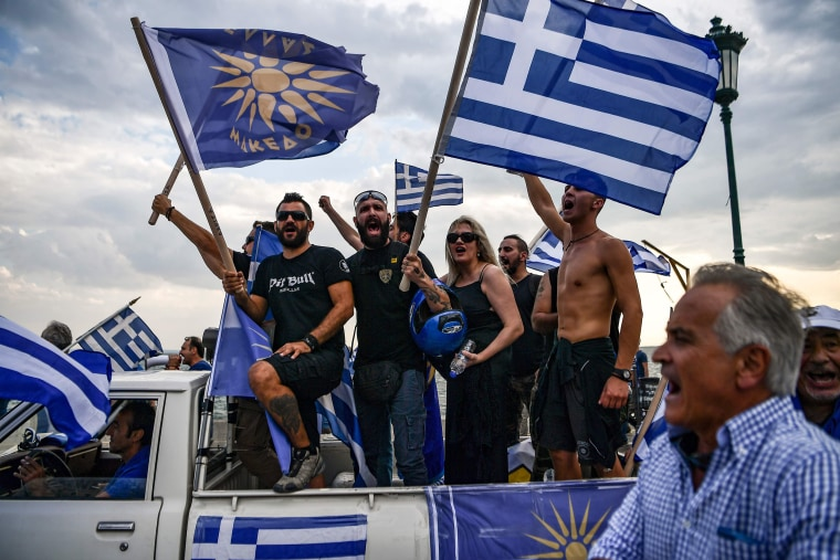 Image: Protesters demonstrate against the naming agreement reached by Greece and Macedonia